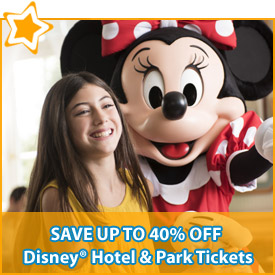 Save up to 40% off* Disney® Hotel & Park Tickets