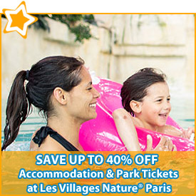 Save up to 40% off* accommodation & Park Tickets