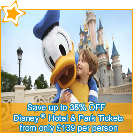 Save up to 35% off* your Disney® Hotel & Park Tickets