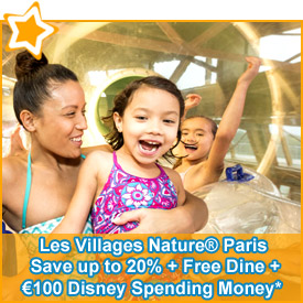 Save up to 20% + FREE Dine + €100 Disney Spending Money*