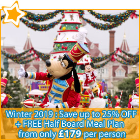 Winter 2019 : Save up to 25% + FREE Half Board Meal Plan from £179