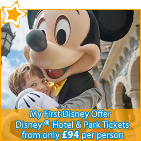 My First Disney Offer : Save up to 35% OFF Disney Hotel Stays & Park Tickets from £99